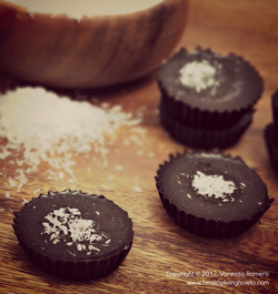 Recipe Dark Chocolate Mini Coconut Cups Image