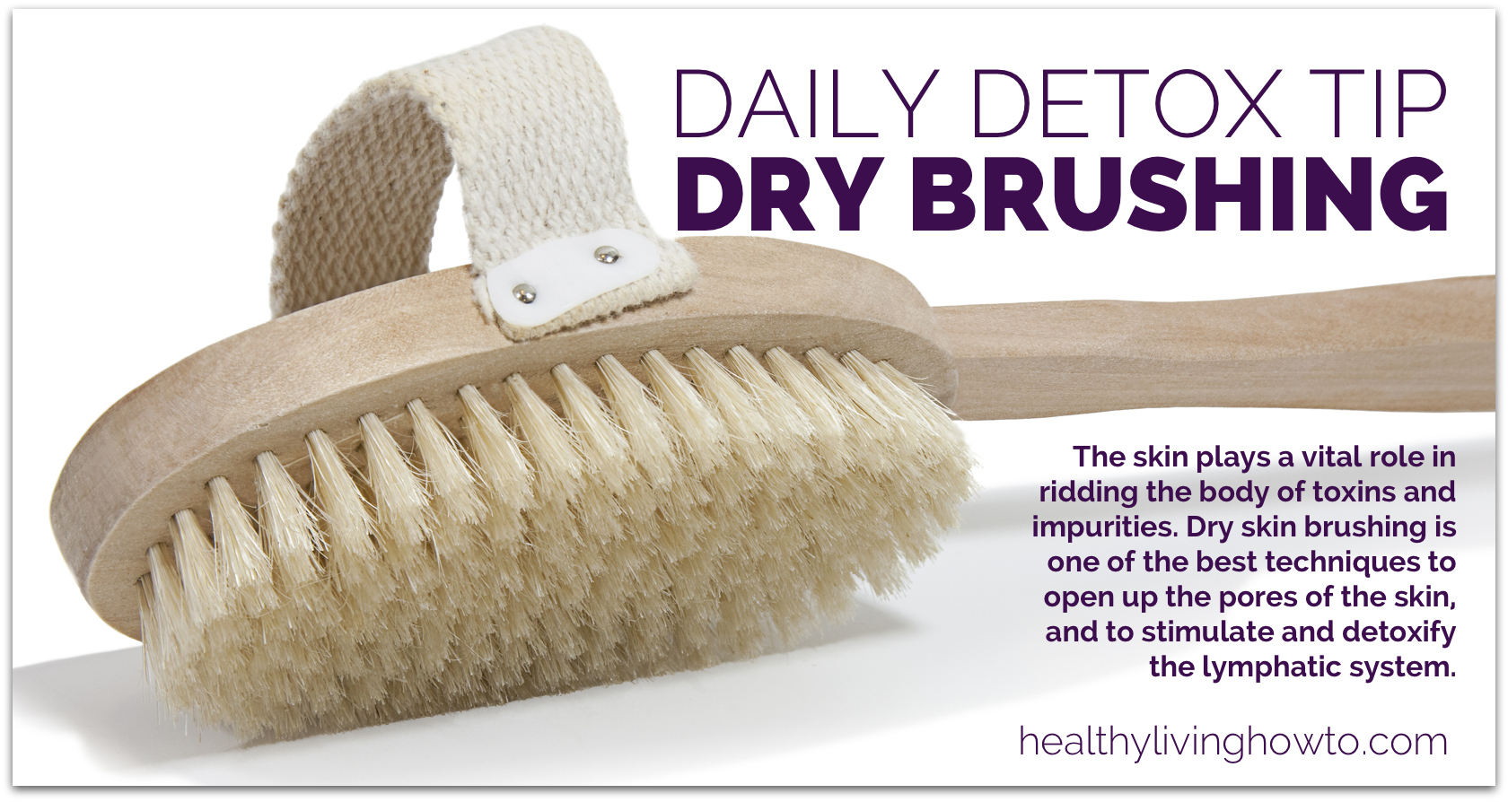 Dry Skin Brushing for a Body Detox