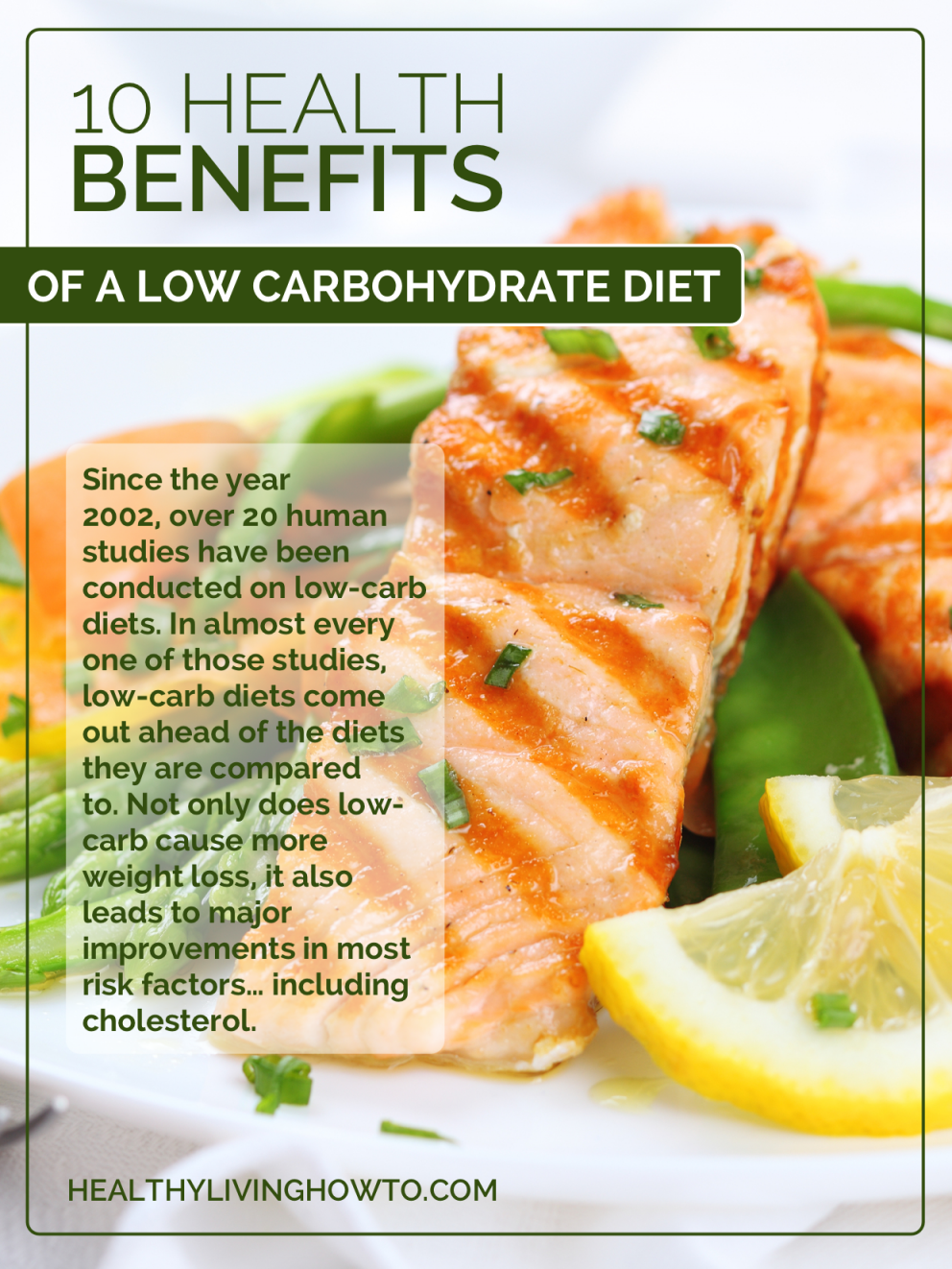 10 Health Benefits of a Low Carbohydrate Diet | healthylivinghowto.com
