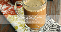 Pumpkin Spice Latte with Pumpkin Spice Syrup