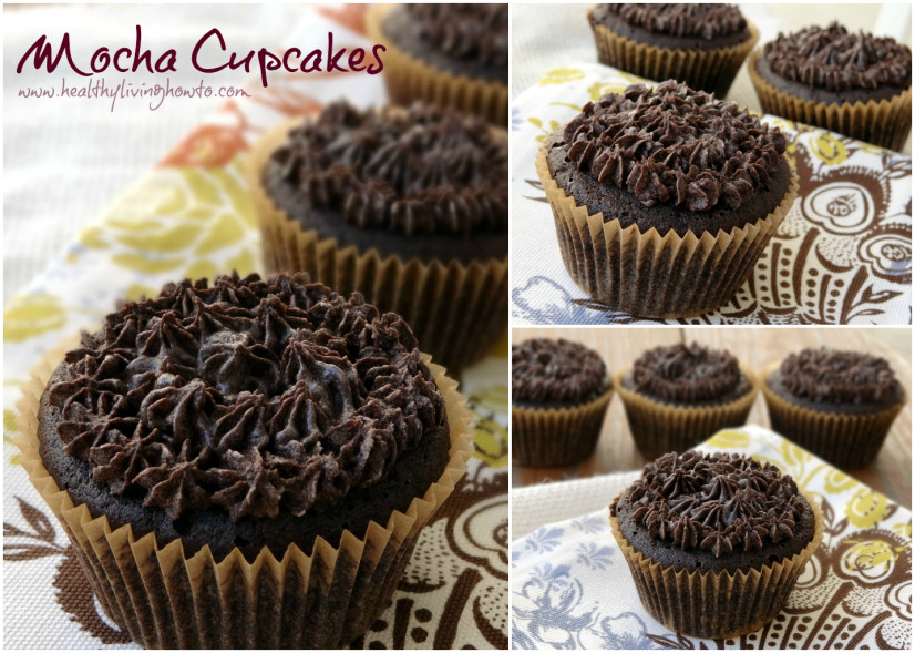 low-carb mocha cupcakes